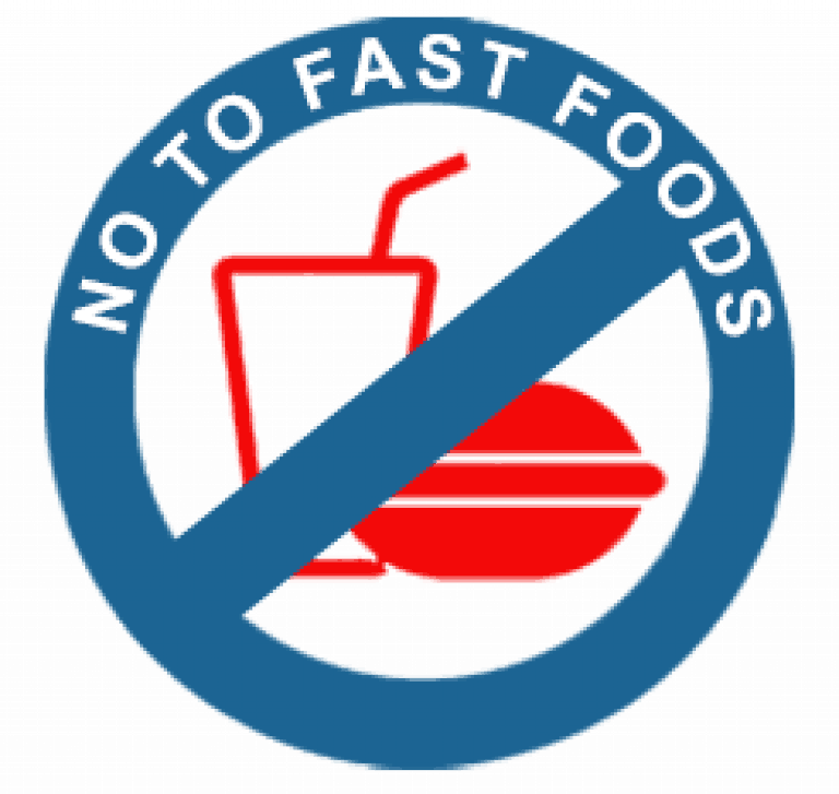 no fast foods